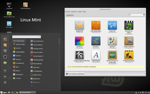 Linux Mint met Cinnamon